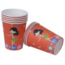 Hawaiin party Cups (Set of 8)