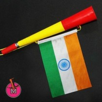 Horns with the India Flags