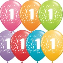 1st Printed Latex Balloons ( set of 10 )