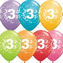 3rd Printed Latex Balloons(set of 10)