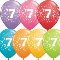 7th Printed Latex Balloons (set of 10)