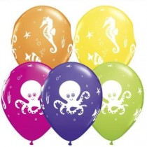 Under the Sea latex balloons( set of 10 pc)