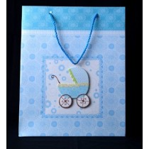 Baby shower blue gift bag