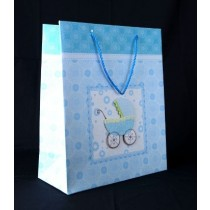 Baby shower pink and blue gift bag