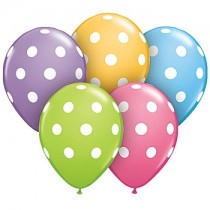 "Polka Dot Balloons (14"")- set of 10"