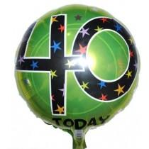 40th Birthday Foil Balloon