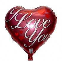 I Love U Foil Balloon