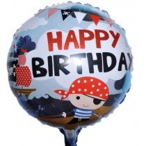 Pirate Bday Foil Balloon