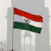 India Flag with Stick