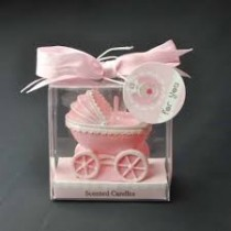Stroller Candle - Pink