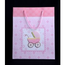 Baby shower pink gift bag