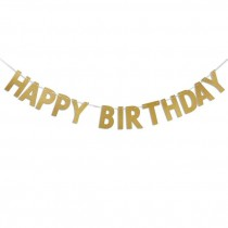 Happy Birthday Felt Cut-Out Letters String Bunting
