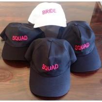 Bride and Squad Cap (Set of 4)