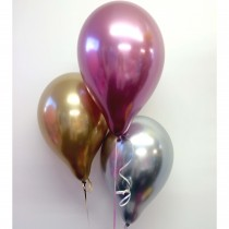 "Chrome Mixed Qualtex 12"" Latex Balloons (Set of 3)"