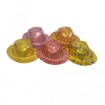 Printed Cowboy Glitter Hat (set of 5)