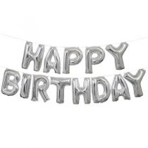 Happy birthday letter foil balloon(Silver)