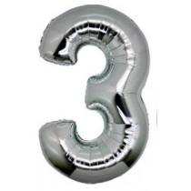 Numeric 3 Foil Balloon