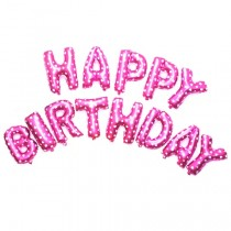 Happy birthday letter foil balloon(Pink)