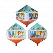 Rhombus shape ( Diamond shape ) Bday foil balloon 24''