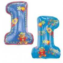 1 Blue supershape foil balloon 30''