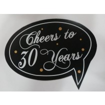 Cheers to 30 years Photo Booth Props