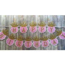 Happy Birthday Pink Princess Bunting