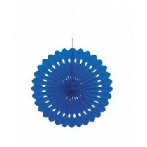 Blue Paper Fan Decoration ( set of 3 ) 15''