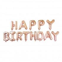 Happy Birthday Letter Rose Gold Balloon