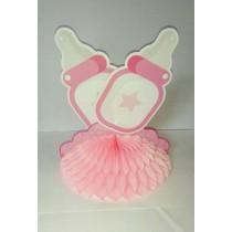 Baby Shower Centrepiece Bottle Pink