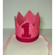 1st Birthday Girl Foam Crown
