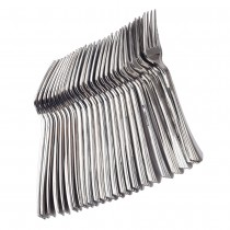 24 pc Fork Set - Metallic