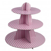 3 Tier Cupcake Stand (Pink)