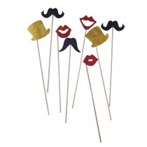 Photo Booth Props - Set of 8