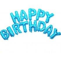 Happy birthday letter foil balloon(Blue)
