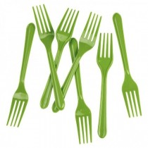 20 pc Fork Set - Green