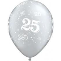 25 Printed Latex Balloon