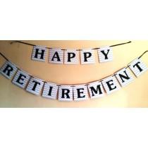 Happy Retirement Bunting