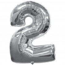 Numeric 2 Silver foil balloon