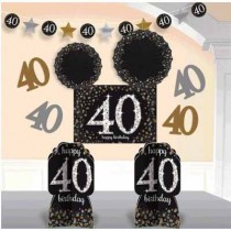 40th room decorating kit ( 10pcs)