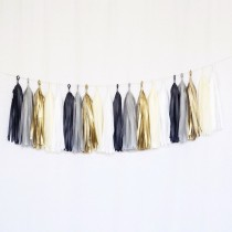 Tassel Black/Silver/Gold