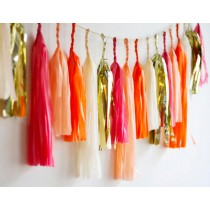 Tassel Red/Gold/Peach