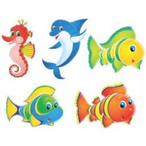 Under The Sea Paper Cutouts(set of 5)