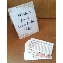 Wishes Stand with Message Slips - Soon to be Mrs