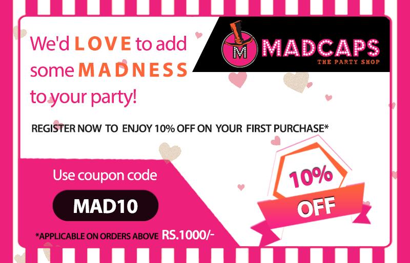 2017 Madcaps The Party Shop. ×. ×