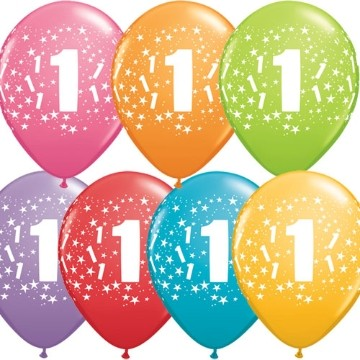 Buy 1st Birthday Printed Latex Balloons Online At Best Price In Mumbai India Madcaps Party Shop