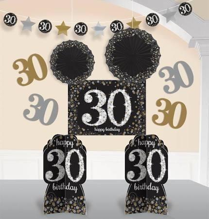 30th Room Decorating kit ( 10pcs)