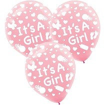 It's a girl latex balloons-set of 10