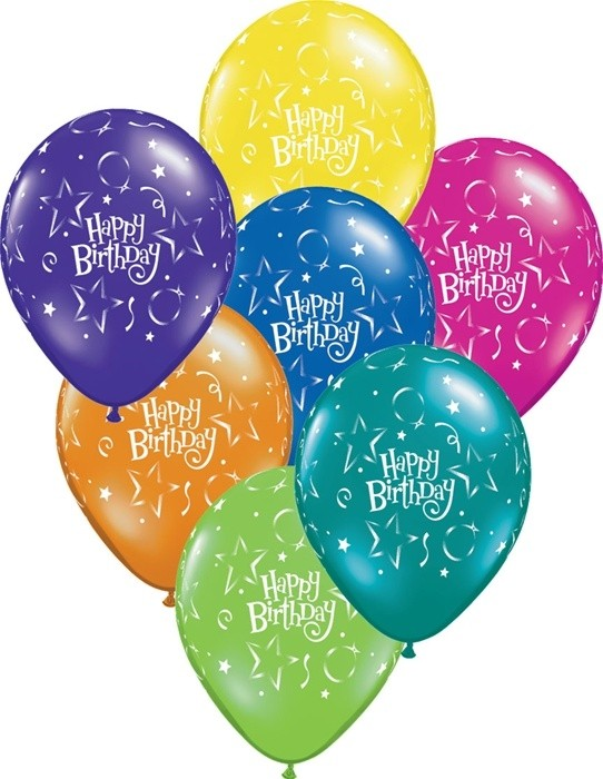 Happy Birthday latex balloons