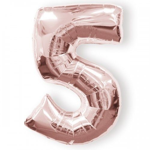 5 - Rose Gold Foil Balloon 40 inches