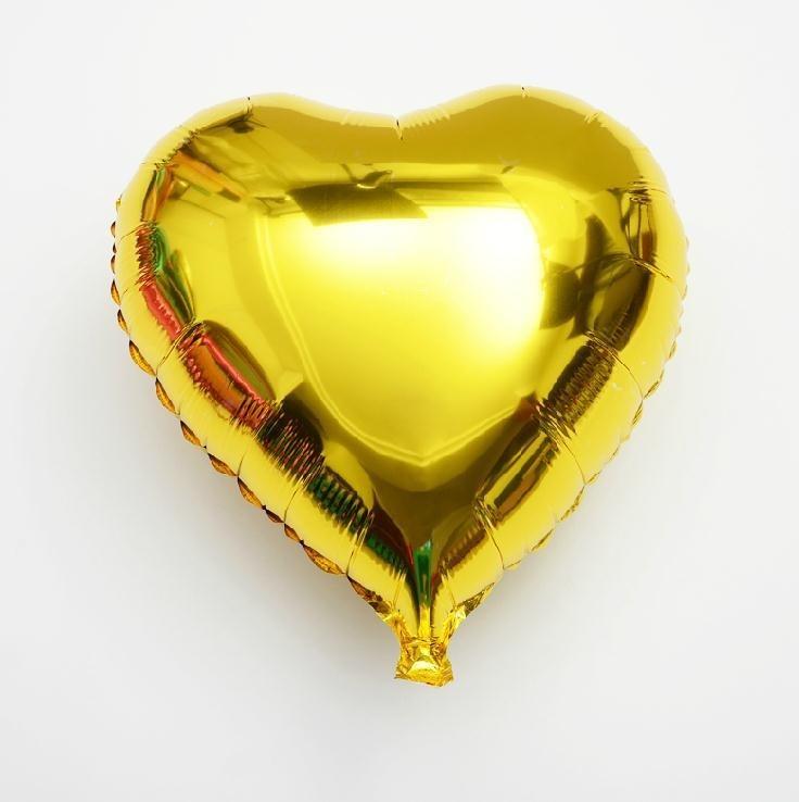 Heart Gold Foil Balloon  22 inch